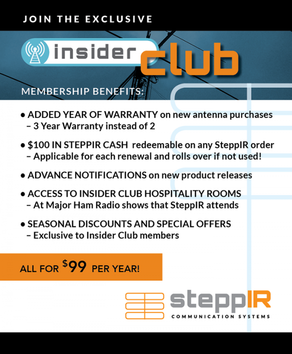 SteppIR insider club detail sheet