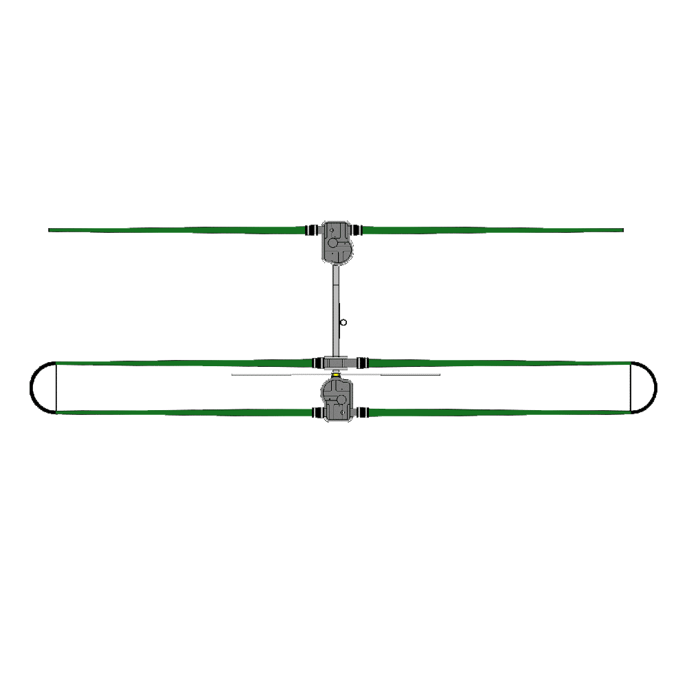 2 Element Yagi Antenna with 30/40 Loop Dipole Adder